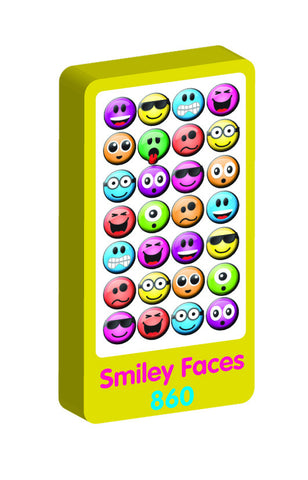 Smiley Spongy Purple Peach Stickers