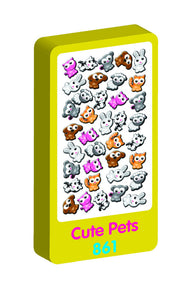 Cute Pets Spongy Purple Peach Stickers