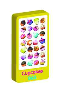 Cupcakes Spongy Purple Peach Stickers