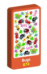 Bugs Wobbly Purple Peach Stickers