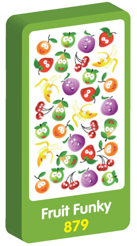Fruit Funky Scented Purple Peach Stickers