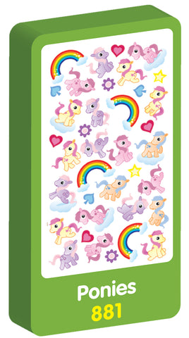 Ponies Scented Purple Peach Stickers