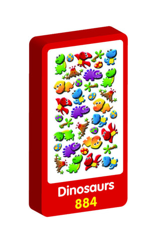 Dinosaurs 3D Handiwork Purple Peach Stickers