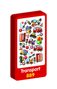 Transport 3D Handiwork Purple Peach Stickers