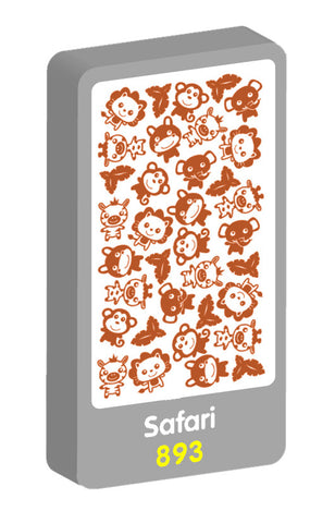 Safari Foil Purple Peach Stickers
