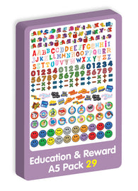 Education & Reward A5 Purple Peach Stickers
