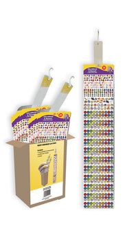 Clip Strip of 24 Sheets Education & Reward Purple Peach Stickers