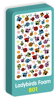 Ladybirds Foam Purple Peach Stickers
