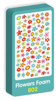Flowers Foam Purple Peach Stickers