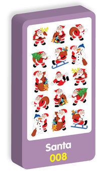 Santa Purple Peach Stickers
