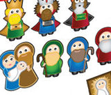 Nativity Purple Peach Stickers