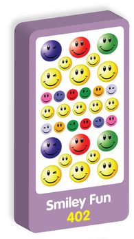 Smiley Fun Stickers Purple Peach Stickers