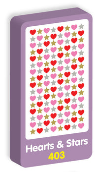 Hearts and Stars Stickers Purple Peach Stickers