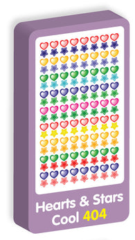 Hearts and Stars Cool Stickers Purple Peach Stickers