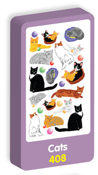 Cats Stickers Purple Peach Stickers