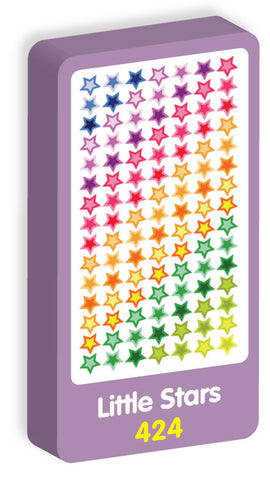 Little Stars Stickers Purple Peach Stickers