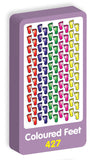 Coloured Feet Stickers Purple Peach Stickers