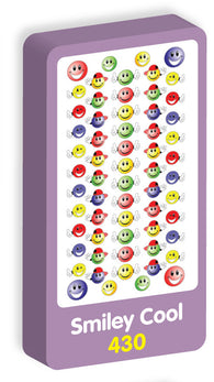Smiley Cool Stickers Purple Peach Stickers