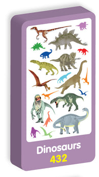 Dinosaur Stickers Purple Peach Stickers