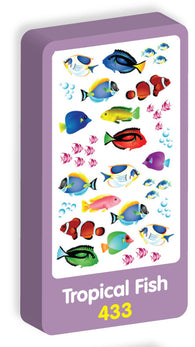 Tropical Fish Stickers Purple Peach Stickers