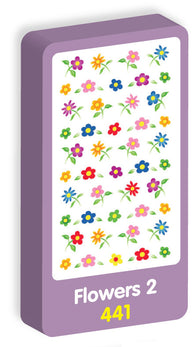 Flowers Stickers Purple Peach Stickers