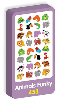 Animals Funky Stickers Purple Peach Stickers