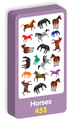 Horses Stickers Purple Peach Stickers