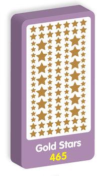 Gold Stars Stickers Purple Peach Stickers