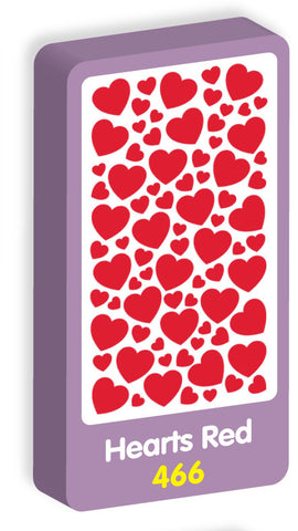 Hearts Red Stickers Purple Peach Stickers