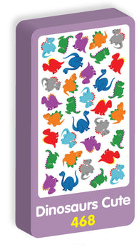 Dinosaur Cute Stickers Purple Peach Stickers