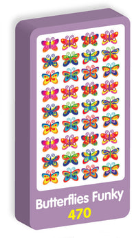 Butterflies Funky Stickers Purple Peach Stickers