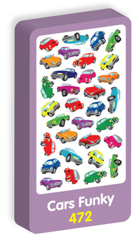 Cars Funky Stickers Purple Peach Stickers