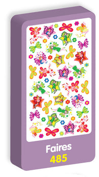 Fairies Stickers Purple Peach Stickers