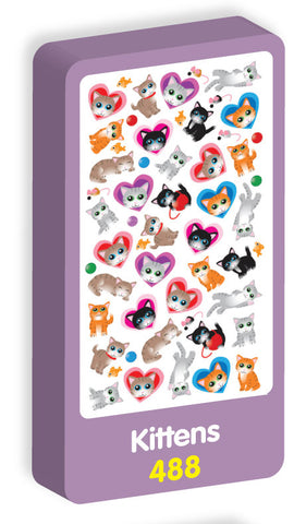 Kittens Stickers Purple Peach Stickers