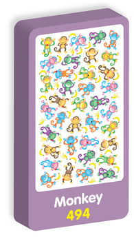 Monkey Stickers Purple Peach Stickers