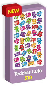 Teddies Cute Stickers Purple Peach Stickers