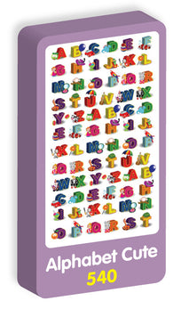Alphabet Cute Stickers Purple Peach Stickers