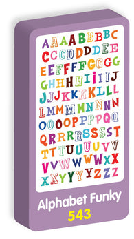 Alphabet Funky Stickers Purple Peach Stickers