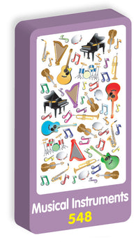 Musical Instruments Stickers Purple Peach Stickers