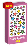 Star Sparkle Purple Peach Stickers