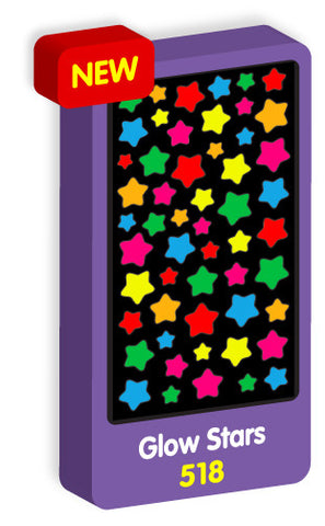 Glow in the Dark Star Stickers Purple Peach Stickers