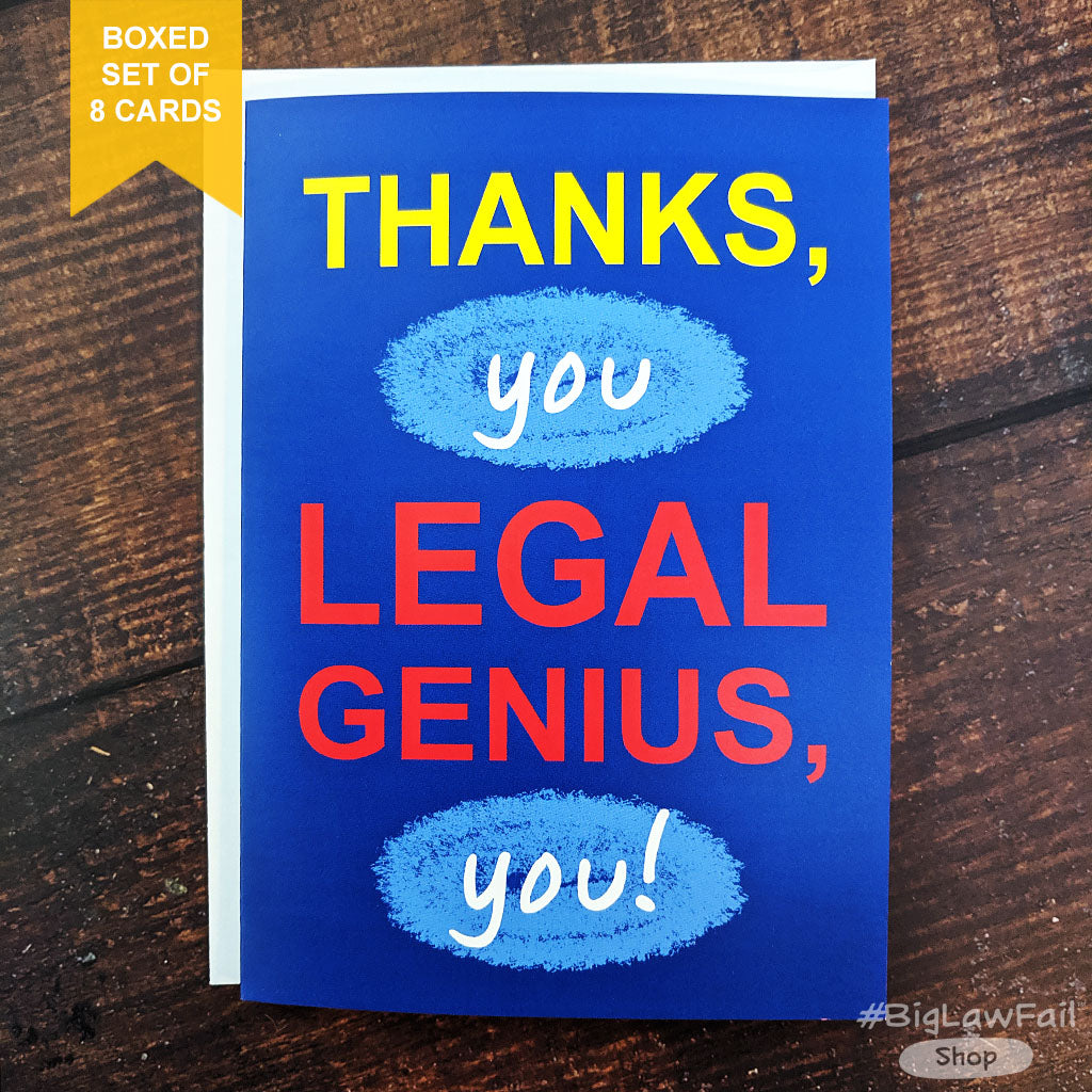 Legal Genius Card, Box of 8
