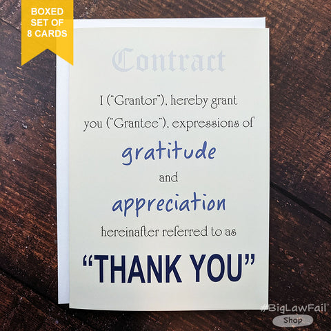 Grantor Grantee Card, Box of 8