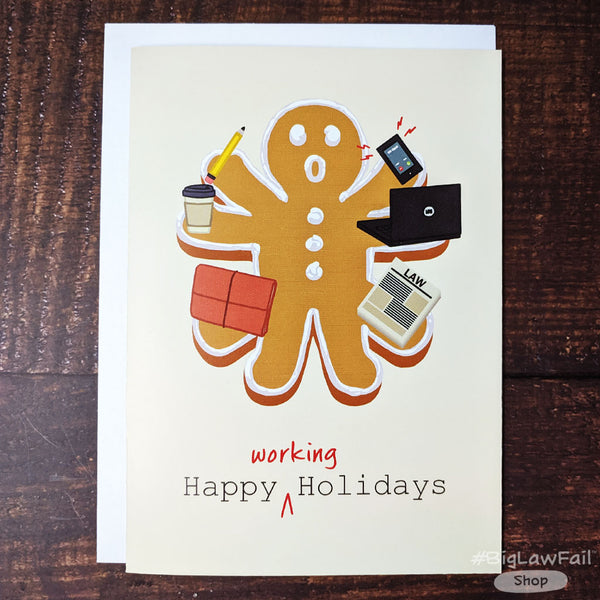 Snarky Lawyer Holiday Cards Assorted Pack, Box of 12