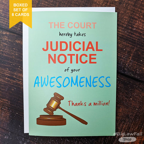 Judicial Notice Card, Box of 8
