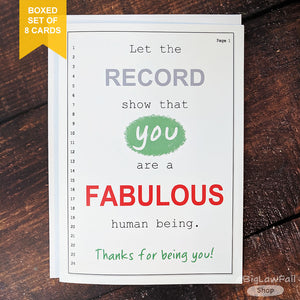 Let The Record Show Card, Box of 8