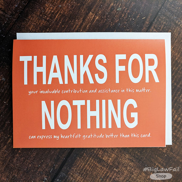 Snarky Lawyer Thank You Cards Assorted Pack, Box of 8