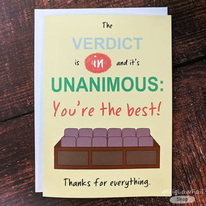 Unanimous Verdict Card