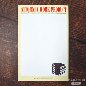 Attorney Work Product Notepad