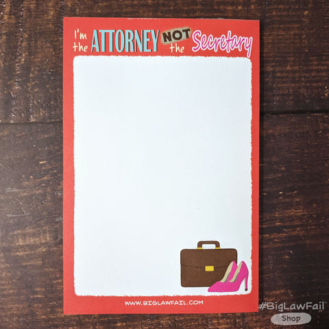 Lady Lawyer Notepad